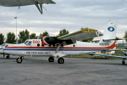 500th DHC-6 Twin Otter delivered to Metroflight of Houston, Texas.