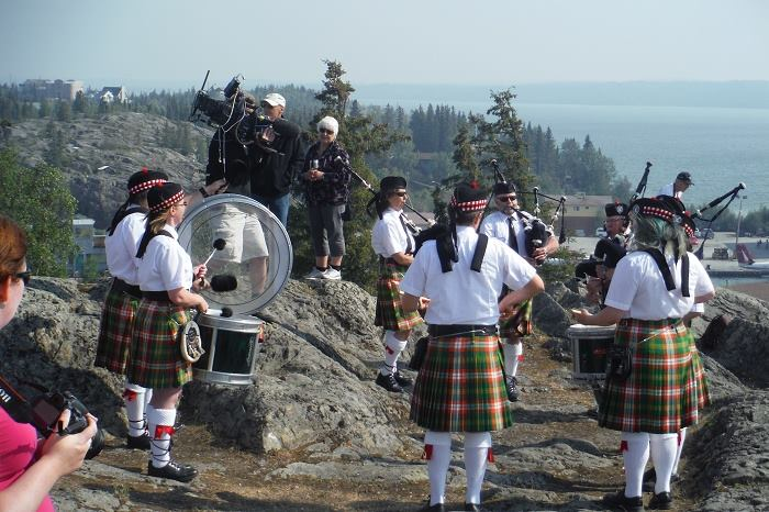 50th Anniversary Twin Otter Celebration Tour Yellowknife Pipe Band