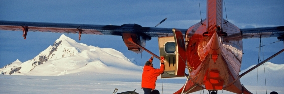 Twin Otter Series 400 landed in snow