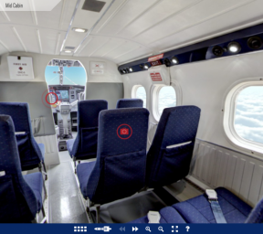 Twin Otter interior - virtual tour