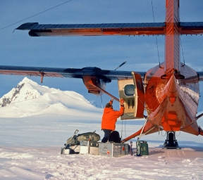 Twin Otter landed in snow