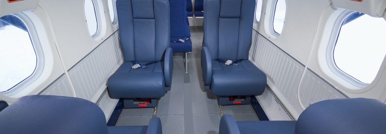 Twin Otter Series 400 interior seating