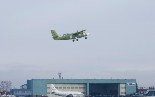 Viking's Series 400 Twin Otter Takes Its First Flight