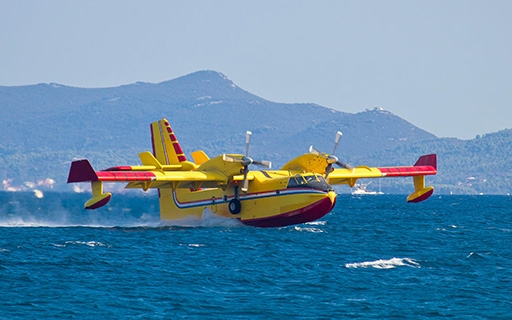 Photo of Aerial Firefighter Aircraft on Water
