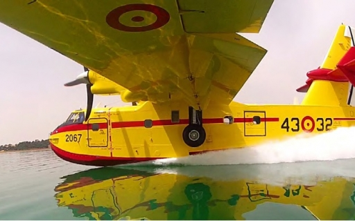 Aerial Firefighter Aircraft Water Landing