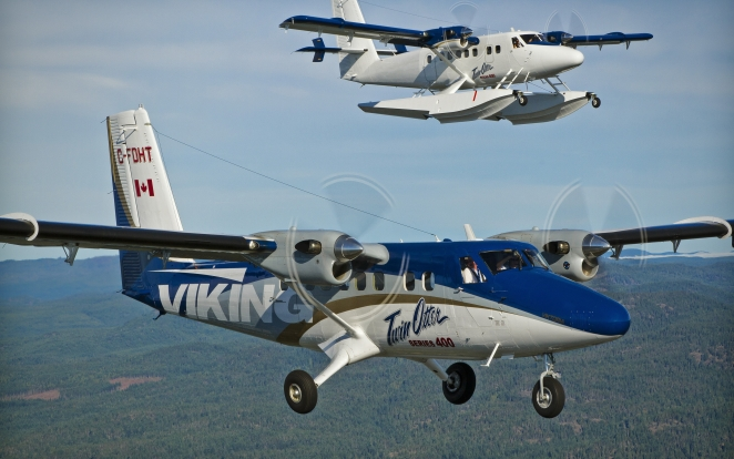 Twin Otter Aircraft Flying