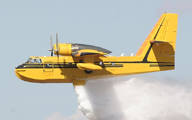 Viking's CL-215 waterbomber, aerial firefighter aircraft