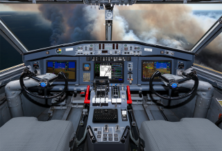 Cockpit with Avionics Upgrade Program Features