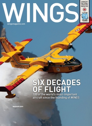 Magazine cover showing the Canadair aerial firefighter.