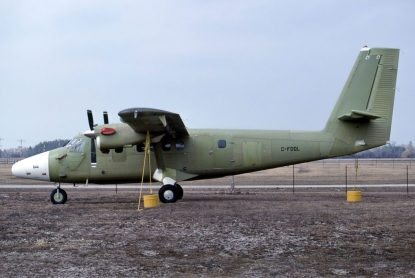 The de Havilland Canada factory delivers its' last DHC-6 Twin Otter.
